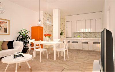 Moderní kuchyně s obývacím prostorem